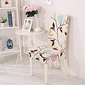cheap Throw Pillow Covers-Floral Print Chair Cover Stretch Removable Washable Dining Room Chair Protector Slipcovers Home Decor Dining Room Seat Cover