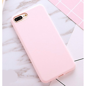 cheap iPhone Cases-Case For Apple iPhone X / iPhone 8 Plus / iPhone 8 Shockproof / Dustproof Back Cover Solid Colored Soft TPU