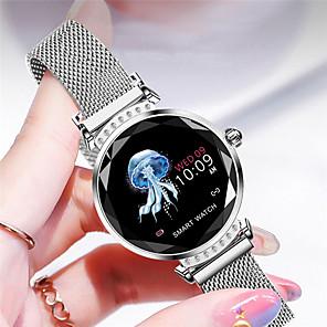 cheap Smartwatches-H2 Smart Watch Women 3D Diamond Glass Heart Rate Blood Pressure Sleep Monitor Best Gift Smartwatch