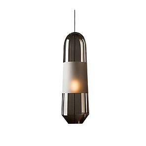 cheap Lantern Design-1-Light Single Pendant Lights Nordic Glass Pendant Light Cylinder / Island Pendant Lighting Ambient Light Electroplated Metal Light Fixtures for Dining Table Living Room