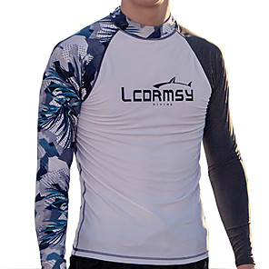 cheap Running Bags-LCDRMSY Men's Rash Guard Sun Shirt Swim Shirt UV Sun Protection Quick Dry Long Sleeve Swimming Water Sports Patchwork Summer / High Elasticity