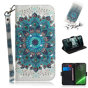 cheap Other Phone Case-Case For Motorola G7 / G7 Plus / G7 Play Wallet / Card Holder / Shockproof Full Body Cases Peacock Tail PU Leather for  Moto G7 Power/MOTO G5S Plus/MOTO One / MOTO  P30 Play