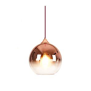 cheap Pendant Lights-1-Light 30 cm Color Gradient Pendant Light Glass Glass Globe Electroplated Modern 110-120V / 220-240V