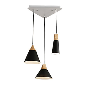cheap Pendant Lights-3-Light Cluster Chandelier Downlight Painted Finishes Metal Pendant Lighting Fixture 3 Lights Chandeliers Flush Mount for Dining Hall Living Room