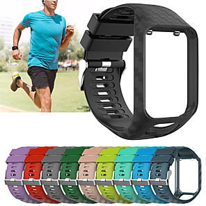 cheap Smartwatch Bands-Replacement Silicone Wristband Wrist Strap Watch Band For TomTom Runner 2 / Runner 3 / Spark 3 / Golfer 2 Bracelet Belt Accessory