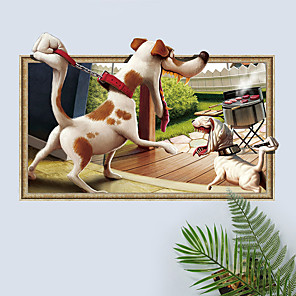 cheap Wall Stickers-Animals / Still Life Wall Stickers Plane Wall Stickers Decorative Wall Stickers, PVC Home Decoration Wall Decal Wall Decoration 1pc / Removable