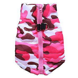 cheap Dog Clothes-Dog Jacket Vest Camouflage Casual / Daily Simple Style Outdoor Dog Clothes Camouflage Color Yellow Light Green Costume Polyester XS S M L XL