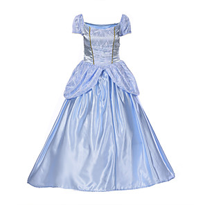 cheap Movie & TV Theme Costumes-Princess Cosplay Costume Party Costume Masquerade Adults' Women's Party / Evening Halloween Christmas Halloween Carnival Festival / Holiday Polyster Blue Women's Female Easy Carnival Costumes / Dress