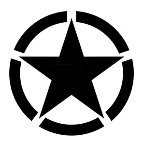cheap Car Body Decoration & Protection-Five-pointed Star Stickers Motorcycle Car Tank Cup Body Decals Waterproof