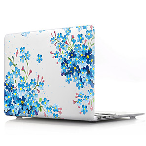 cheap Mac Accessories-Transparent Flower PVC Hard Cover Shell for MacBook Pro Air Retina Phone Case 11/12/13/15 (A1278-A1989)