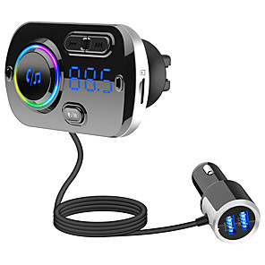 cheap Bluetooth Car Kit/Hands-free-BC49BQ FM Transmitter for Car Bluetooth 5.0 Wireless Car Radio Adapter with QC3.0 & 5V/2.4A Dual Charging Port Easy Attached to Air Vent Better Hands Free Car Kit Music Player