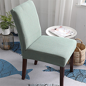 cheap Chair Cover-Solid Thicken Plush Chair Cover Stretch Removable Washable Dining Room Chair Protector Slipcovers Home Decor Dining Room Seat Cover