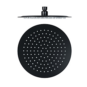 cheap Rain Shower-10 Inch Black Stainless Steel Ultra-thin Shower Head