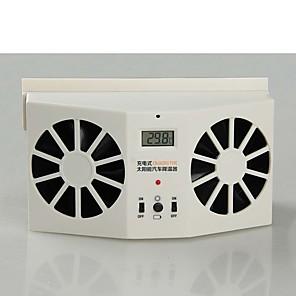 cheap Car Life Appliances-Solar Powered Car Window Air Vent Ventilator Cooling Fan