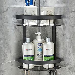 cheap Bathroom Shelves-Adhesive Corner Shelf Bathroom Shower Caddy Organizer for Kitchen Toilet No Drilling 2-tier Bathroom Corner Shelves Shower Caddies