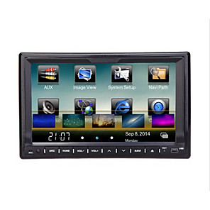 cheap Car DVD Players-LITBest 7 inch 2 DIN Windows CE 6.0 GPS / RDS / WiFi for universal Support AVI / RMVB / Divx MP3 / WMA / CD JPEG