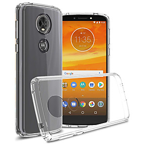 cheap Huawei Case-Naxtop Case For Motorola Moto E4 E5 E6 G6 Play Plus Shockproof / Dustproof Back Cover Solid Colored TPU