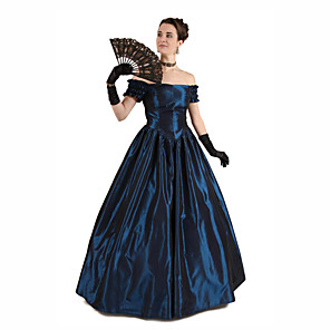 cheap Historical & Vintage Costumes-Duchess Victorian 1910s Edwardian Dress Women's Cotton Costume Purple / Dusty Rose / Dark Green Vintage Cosplay Masquerade Prom Party & Evening Ankle Length Ball Gown Plus Size