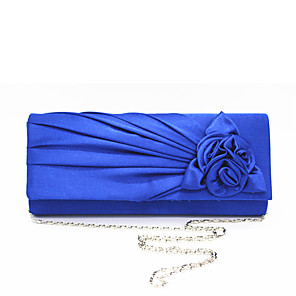 cheap Clutches & Evening Bags-Women's Flower Polyester / Silk Evening Bag Solid Color Almond / Fuchsia / Sky Blue / Fall & Winter