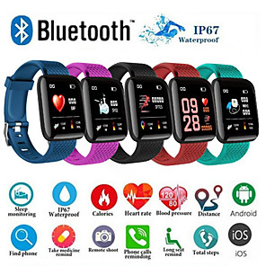 cheap Smartwatches-D13 Smartwatch BT Fitness Tracker Support Notify/ Blood Pressure Measurement Sport Smart Watch for Samsung/ Iphone/ Android Phones