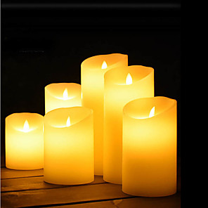 cheap LED Strip Lights-Night Light Staycation Decoration Light Flameless Candles Lovely Atmosphere Lamp Romantic Gift AA Batteries Powered 1pc