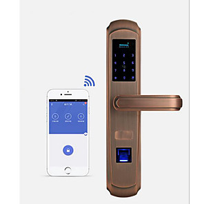 cheap Door Locks-Factory OEM A2 Stainless Steel Intelligent Lock Smart Home Security System RFID / Fingerprint unlocking / Password unlocking Home / Office Security Door (Unlocking Mode Fingerprint / Password