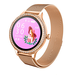 cheap Smartwatches-Smartwatch Digital Modern Style Sporty Silicone 30 m Water Resistant / Waterproof Heart Rate Monitor Bluetooth Digital Casual Outdoor - Black Golden Gold / Pink
