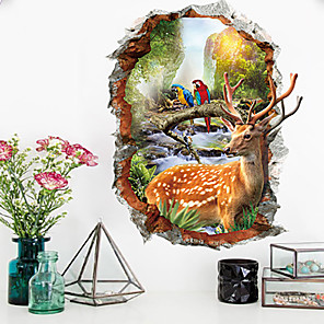 cheap Wall Stickers-Still Life / Floral / Botanical Wall Stickers Plane Wall Stickers / Animal Wall Stickers Decorative Wall Stickers, PVC Home Decoration Wall Decal Wall Decoration 1pc / Removable
