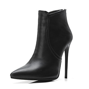 cheap Women's Heels-Women's Boots Sexy Boots Stiletto Heel Pointed Toe PU(Polyurethane) Booties / Ankle Boots Fall & Winter Black / Gray / Khaki / Party & Evening