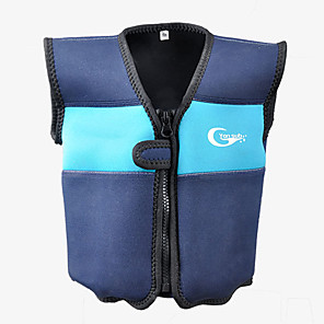 cheap Wetsuits, Diving Suits & Rash Guard Shirts-YON SUB Life Jacket Protective Polyester Swimming Diving Snorkeling Top for Kids
