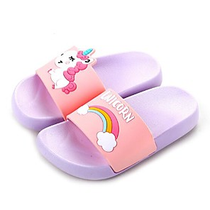 cheap Kids' Slippers-Girls' Comfort EVA(ethylene-vinyl acetate copolymer) Slippers & Flip-Flops Little Kids(4-7ys) / Big Kids(7years +) Light Purple / Pink / Dark Blue Summer