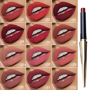 cheap Lip Sticks-Evpct Retro Beautiful Metal Pointed Lipstick Waterproof Long-Lasting Matte Lipstick