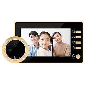billiga Videoporttelefonsystem-Factory OEM Trådlös 4.3 tum Hands-free En till En Video Porttelefonen