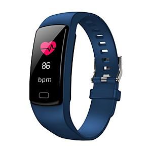 abordables Bracelets Intelligents-y9 smart bracelet moniteur de fréquence cardiaque moniteur de fréquence cardiaque tensiomètre intelligent bracelets de bande affichage couleur sport bracelets intelligents
