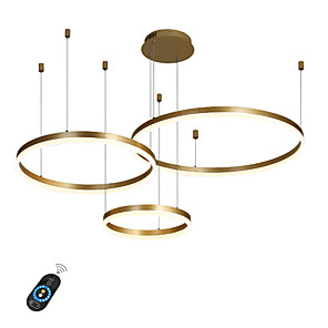 cheap Indoor Wall Lights-1-Light LED 90W Circle Chandelier/ LED Modern Pendant Lights For Living Room Coffee Bar Show Room/ Big Size/ Warm White / White / Dimmable With Remote Control / WIFI Smart via Voice Control