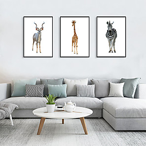 cheap Framed Arts-Framed Art Print Framed Set - Animals Pop Art PS Photo Wall Art