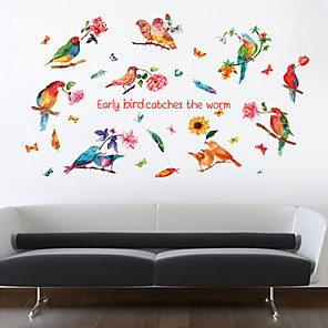 cheap Wall Stickers-Arabesque / Floral / Botanical Wall Stickers Plane Wall Stickers Decorative Wall Stickers, PVC Home Decoration Wall Decal Wall Decoration 1pc