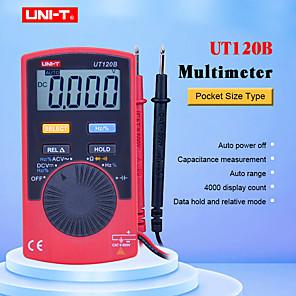 Недорогие Цифровые мультиметры и осциллографы-uni-t ut120b цифровой мультиметр портативный цифровой дисплей мини-дизайн для проверки автомобилей