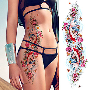cheap Tattoo Stickers-3 pcs Large Arm Sleeve Tattoo Sketch Lion Tiger Waterproof Temporary Tattoo Sticker Wild Fierce Animal Men Full Bird Totem Tattoo
