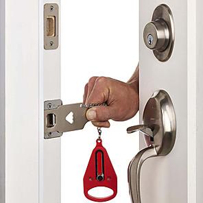 cheap Tool Sets-Portable Door Lock Travel Hotel Door Stopper Self-Defense Door lock Anti Theft Hardware Security School Home Lockdown Lock