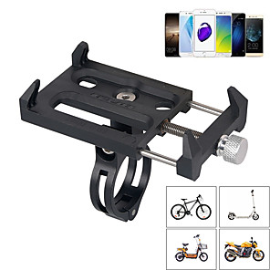 cheap Mounts & Holders-Bike Phone Mount Adjustable / Retractable Anti-Slip Phone Holder for Road Bike Mountain Bike MTB Motorcycle Aluminium Alloy PP iPhone X iPhone XS iPhone XR Cycling Bicycle Black