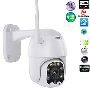 cheap Indoor IP Network Cameras-1080p WIFI Wireless Outdoor PTZ CMOS IP Camera H.265X Speed Dome CCTV IP66 Waterproof Two-Way Audio Night Vision Remote Access Security Cameras WIFI Exterior 2MP IR Home Surveilance