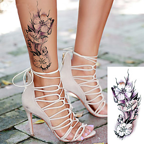 cheap Tattoo Stickers-5 sheets randomly sexy romantic dark rose flowers Tattoo sleeve flash henna tattoos fake Waterproof temporary tattoos stickers TBX9018-9025