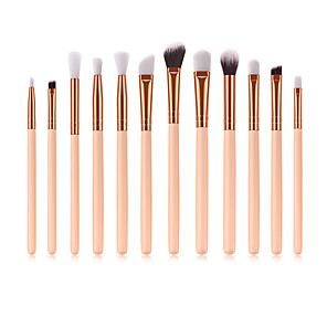 cheap Makeup Brush Sets-Makeup Brushes Set 12pcs Wood Handle Soft Nylon Bristles Makeup Brush Cosmetic Brushes Eyeshadow Eyeliner Blush Blending Brushes