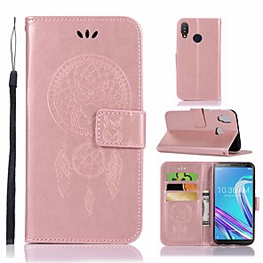 cheap Other Phone Case-Case For Asus ASUS ZenFone Max Pro M1 ZB601KL / ASUS ZenFone Max Pro ZB602KL Shockproof / with Stand Full Body Cases Flower Hard PU Leather
