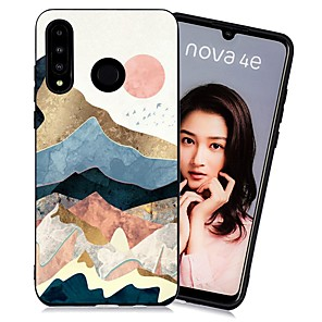 cheap Huawei Case-Case For Huawei Huawei P20 / Huawei P20 Pro / Huawei P20 lite Shockproof / Frosted / Pattern Back Cover Scenery TPU