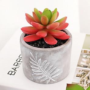 cheap Christmas Decorations-Artificial Flowers 1 Branch Classic European Succulent plants