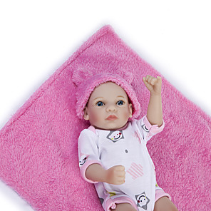 cheap Reborn Doll-12 inch Reborn Doll Baby Girl Kids / Teen Full Body Silicone with Clothes and Accessories for Girls' Birthday and Festival Gifts