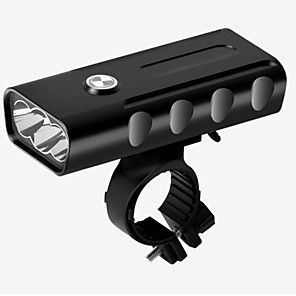 cheap Bike Lights & Reflectors-LED Bike Light Front Bike Light Headlight Mountain Bike MTB Bicycle Cycling Waterproof Multiple Modes Super Bright Safety 18650 1000 lm Rechargeable USB 18650 lithium battery White Camping / Hiking