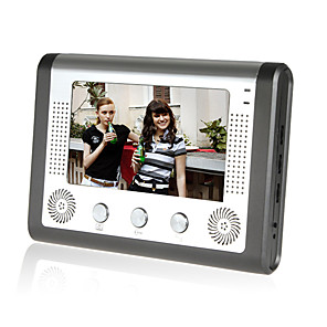 cheap Video Door Phone Systems-Wired 7 inch Hands-free 800*480 Pixel video doorphone Indoor Unit 1 Monitor